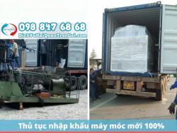 Hướng dẫn làm thủ tục nhập khẩu máy móc mới 100% về Việt Nam nhanh nhất