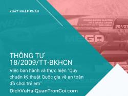 Thông tư 18/2009/TT-BKHCN về việc ban hành và thực hiện