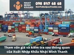Tham vấn giá và kiểm tra sau thông quan của Xuất Nhập Khẩu Nhật Minh Khánh