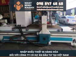 Thủ tục nhập khẩu hàng hóa thiết bị đối với công ty có dự án đầu tư tại Việt Nam