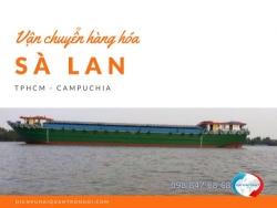 Vận chuyển hàng hóa bằng sà lan từ TPHCM đi Campuchia
