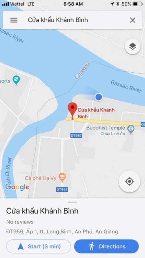 Tuyến vận chuyển hàng đi Campuchia từ cửa khẩu Khánh Bình (An Giang) qua Chrey Thom đến thủ đô Phnompênh của Campuchia chỉ khoảng 76km
