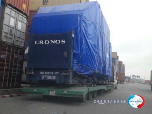 Dịch vụ hải quan xuất nhập khẩu trọn gói - nhập và vận chuyển nội địa lẫn quốc tế: máy móc phục vụ công trình - thuộc nhóm hàng siêu trường, siêu trọng