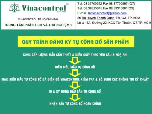 Giấy yêu cầu thử nghiệm của VinaControl
