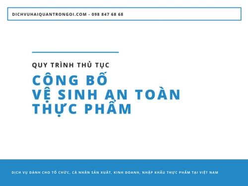 Công bố chất lượng sản phẩm nhập khẩu: Quy trình thủ tục công bố vệ sinh an toàn thực phẩm bắt buộc đối với các tổ chức, cá nhân sản xuất, kinh doanh, nhập khẩu thực phẩm tại Việt Nam
