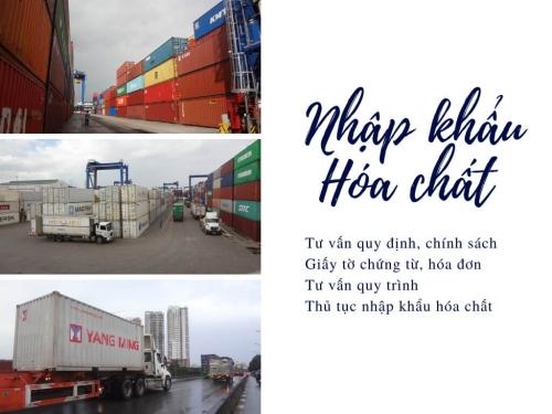 Thủ tục nhập khẩu hóa chất, xin giấy phép nhập khẩu hóa chất - Dịch vụ hải quan trọn gói giá rẻ TPHCM
