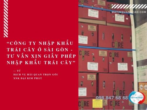Công ty nhập khẩu trái cây ở Sài Gòn - Tư vấn xin giấy phép nhập khẩu trái cây