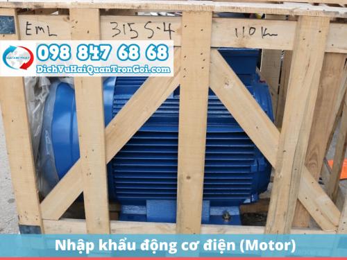 Thủ tục nhập khẩu động cơ điện (Motor) mới nhất - mô tơ giảm tốc, mô tơ cửa cuốn
