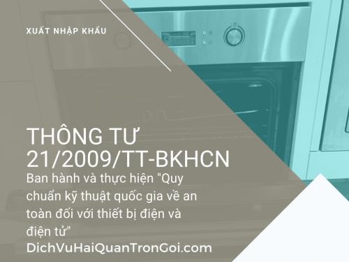 Thông tư 21/2009/TT-BKHCN: Về việc ban hành và thực hiện