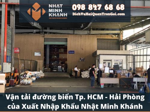 Vận tải đường biển Tp. HCM - Hải Phòng của Xuất Nhập Khẩu Nhật Minh Khánh