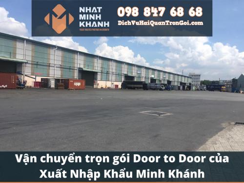 Vận chuyển trọn gói Door to Door của Xuất Nhập Khẩu Minh Khánh