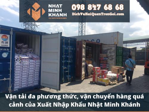 Vận tải đa phương thức, vận chuyển hàng quá cảnh của Xuất Nhập Khẩu Nhật Minh Khánh