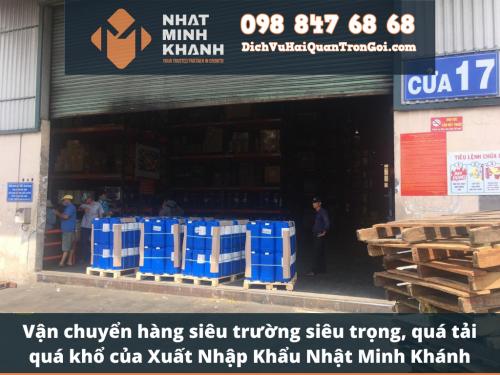 Vận chuyển hàng siêu trường siêu trọng, quá tải quá khổ của Xuất Nhập Khẩu Nhật Minh Khánh